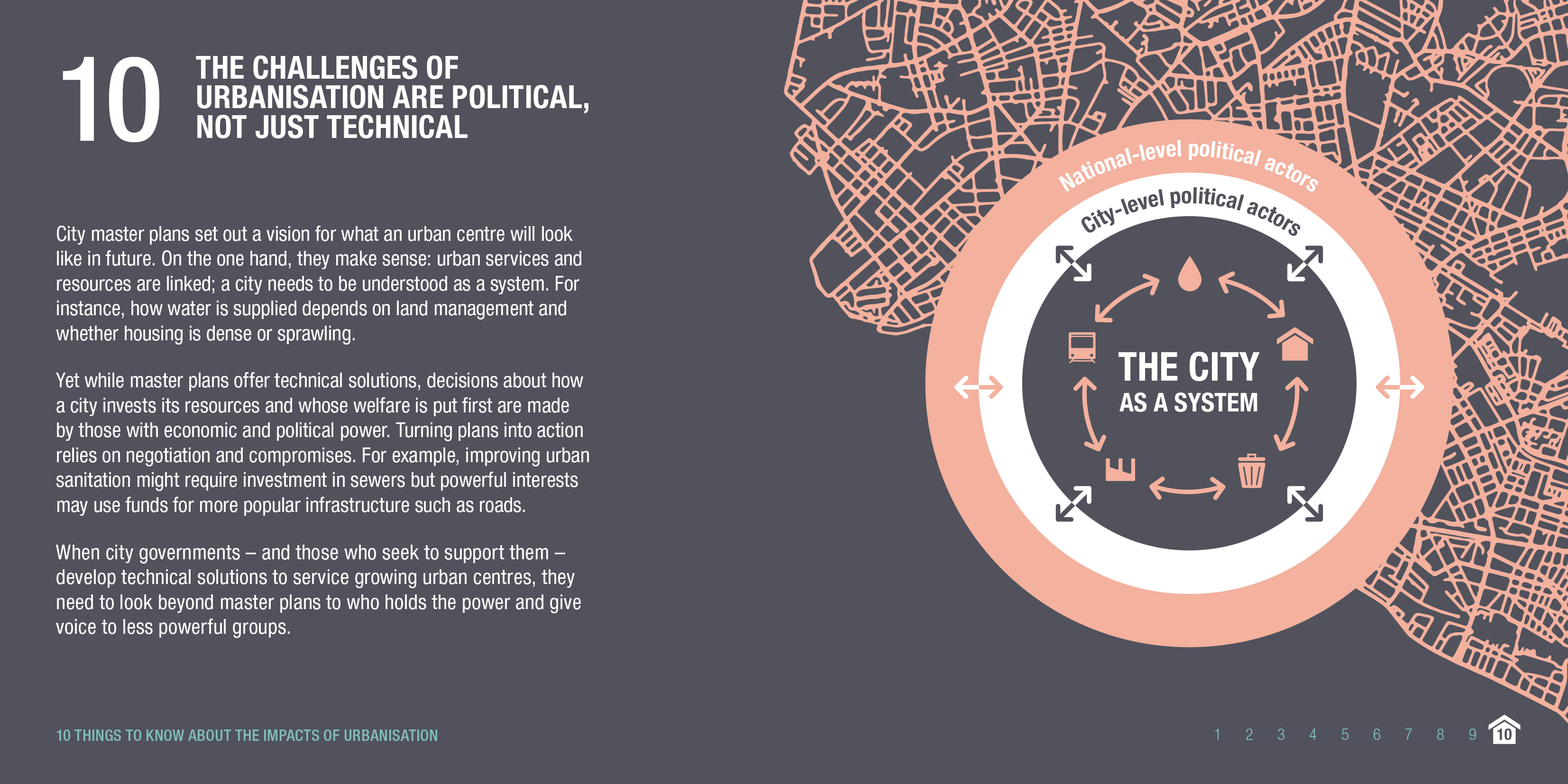 Infographic: The challenges of urbanisation are political, not just technical. © ODI 2018.