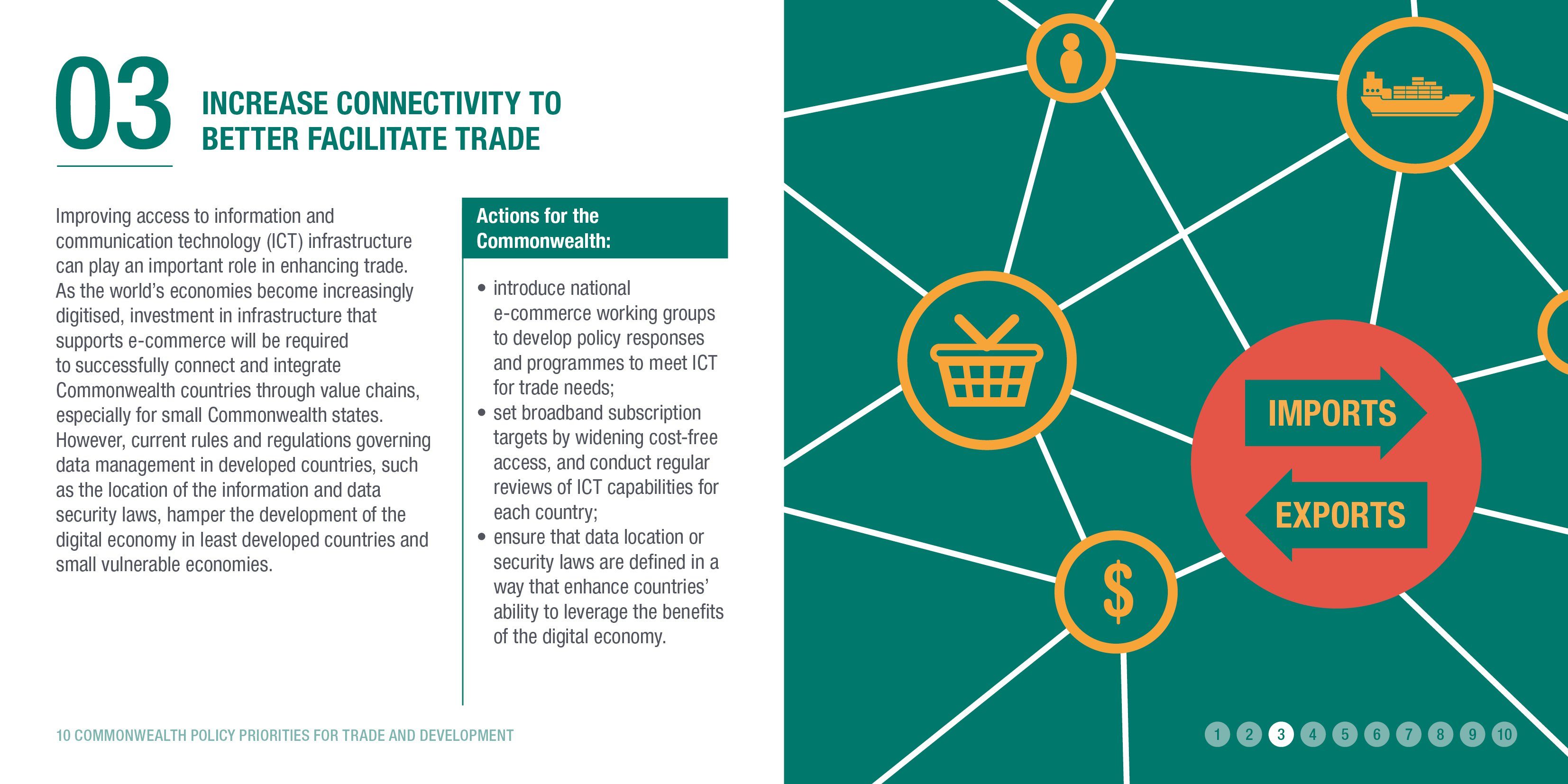 Increase connectivity to better facilitate trade