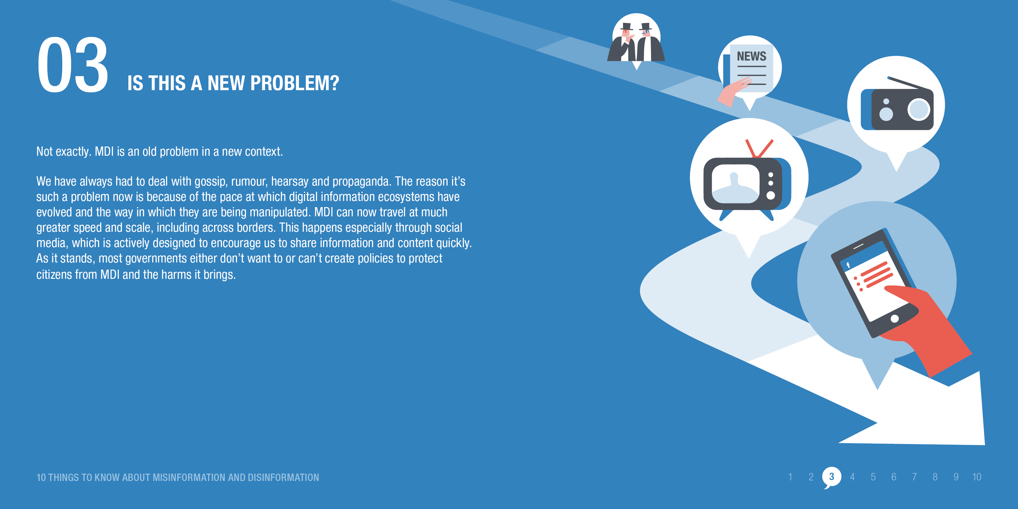 Digital technology has given new prominence to the old problem of misinformation. © ODI 2020