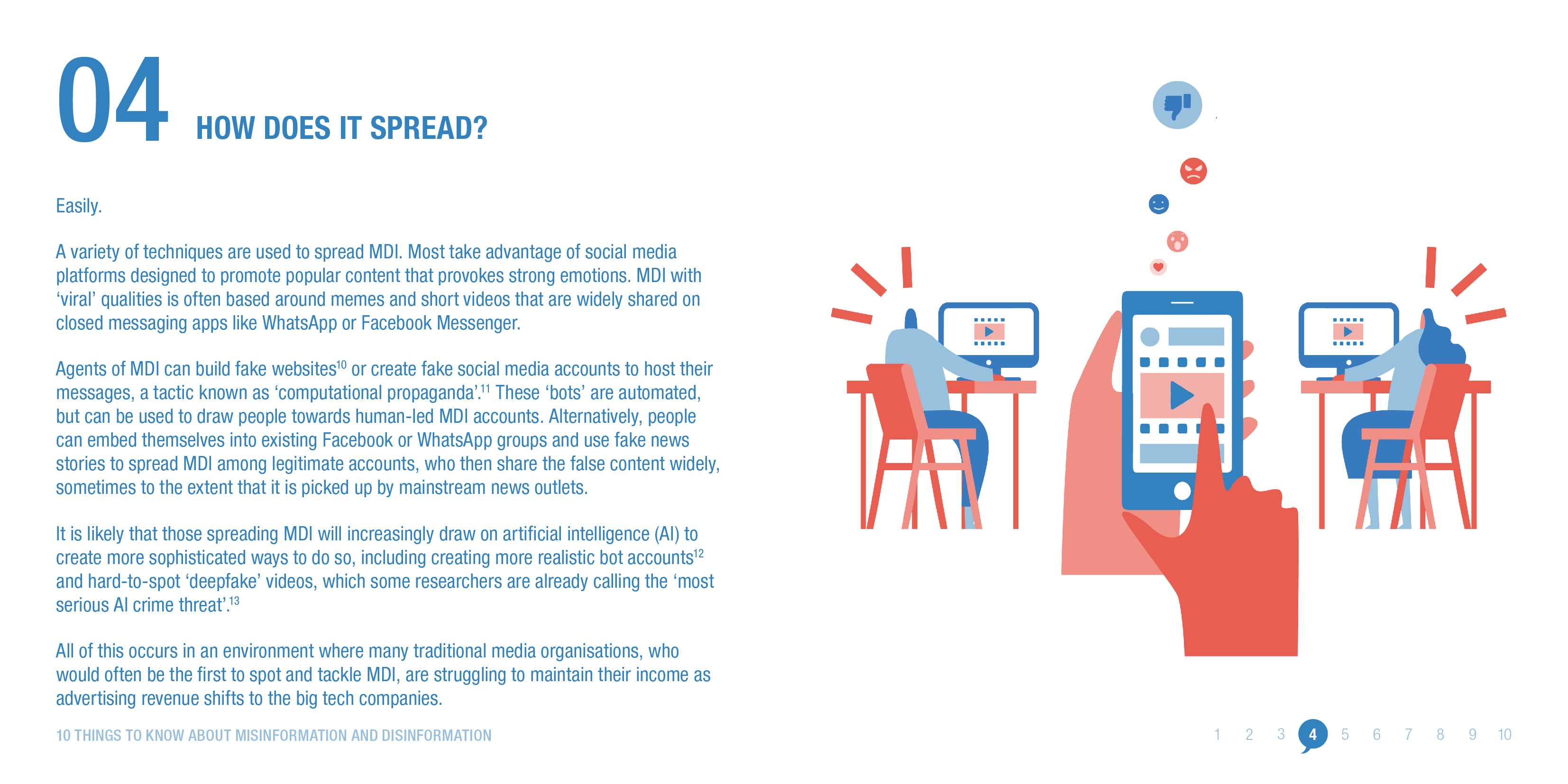 Misinformation and disinformation spread easily online. © ODI 2020
