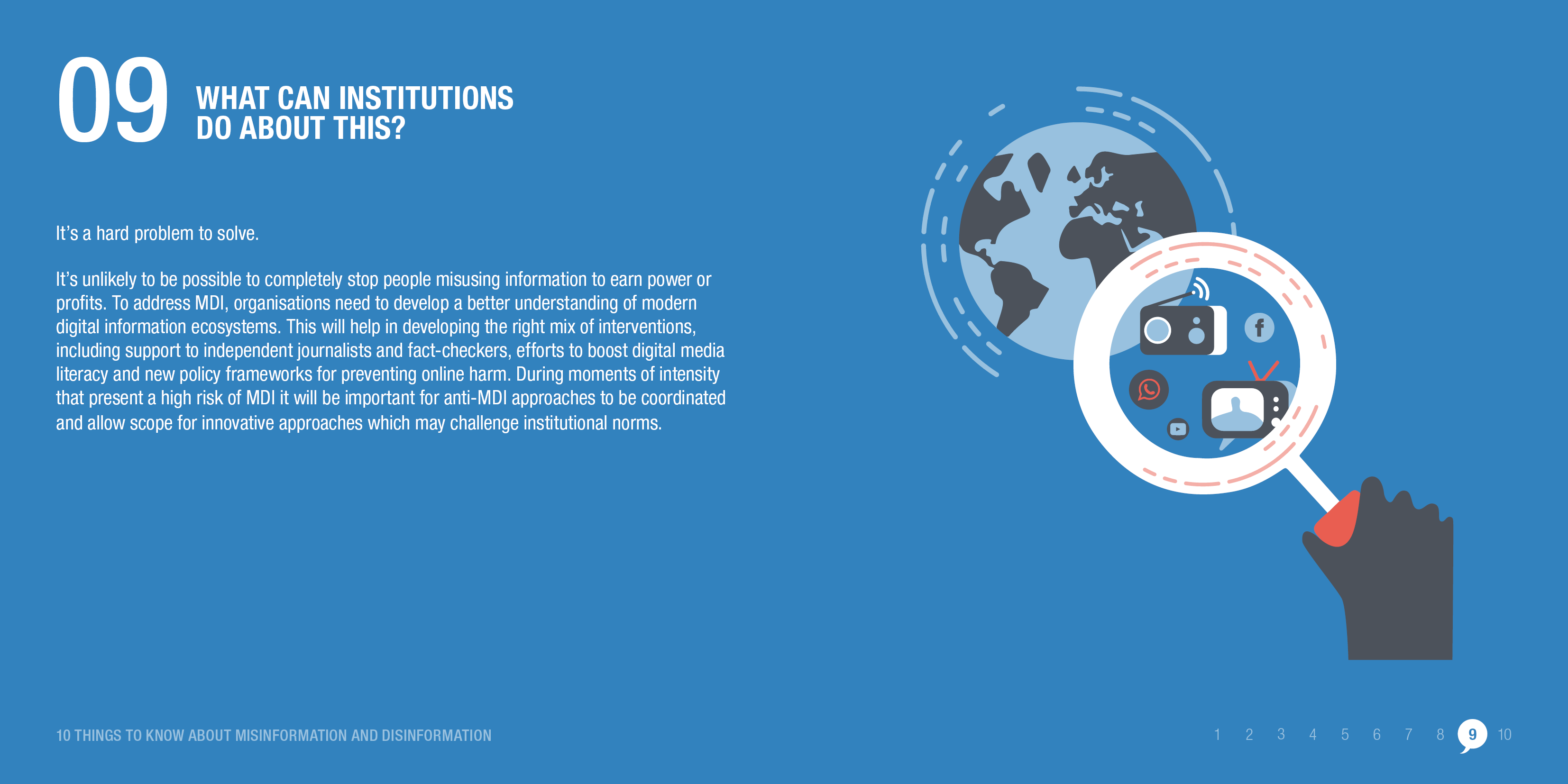 Misinformation and disinformation are complex problems that require innovative solutions. © ODI 2020