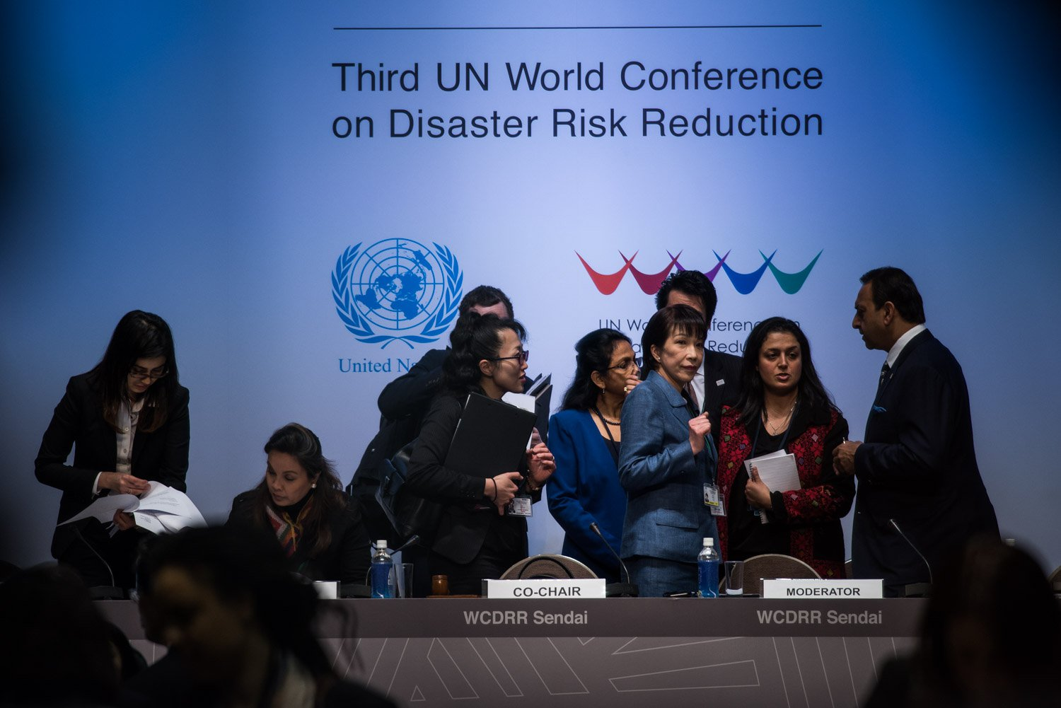 : Minister of Internal Affairs and Communications of Japan discussing before the Third UN World Conference on Disaster Risk Reduction.