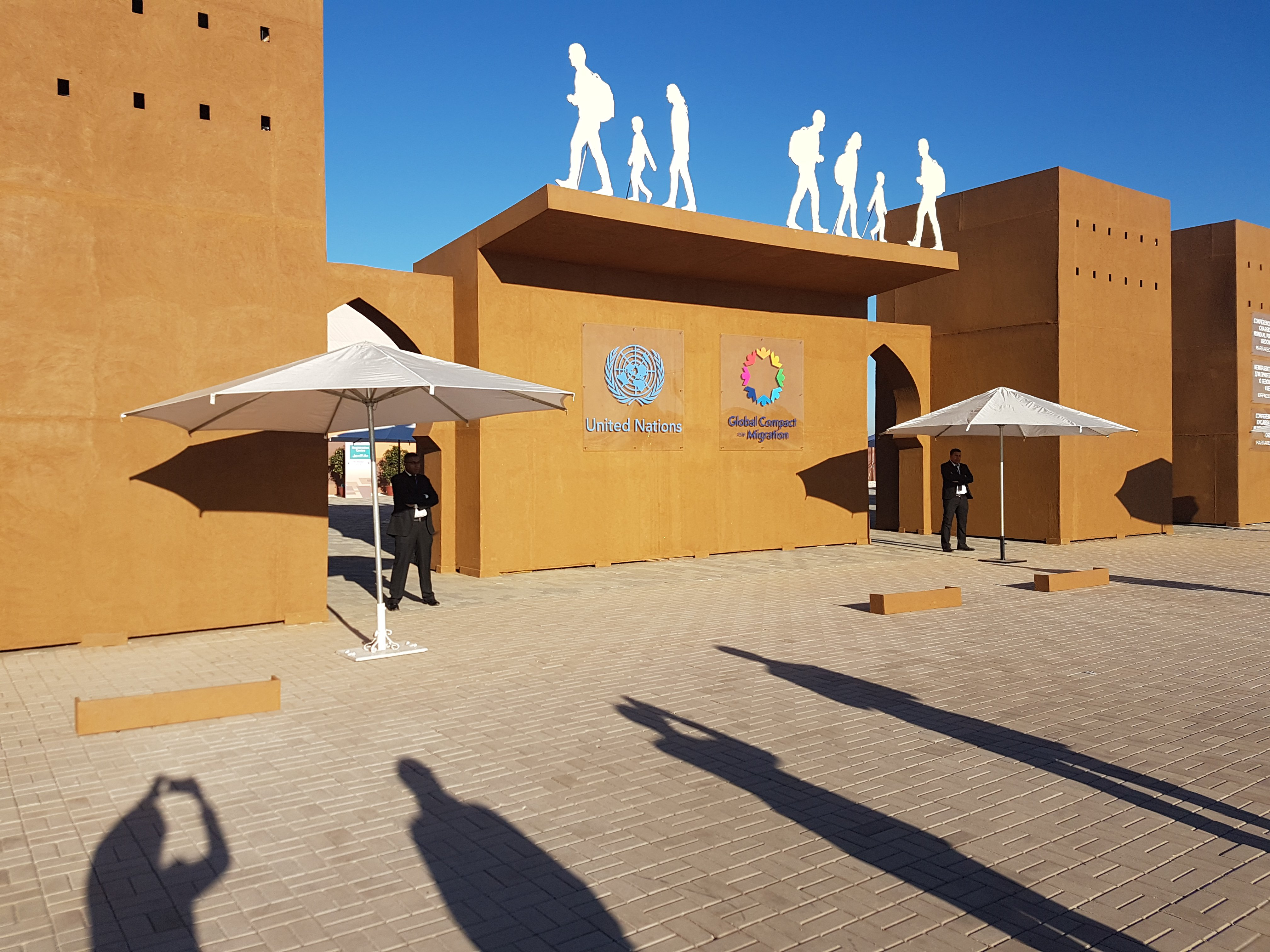 The Global Compact for Migration adoption site, Marrakesh, Morocco, 2018 © Helen Dempster, ODI