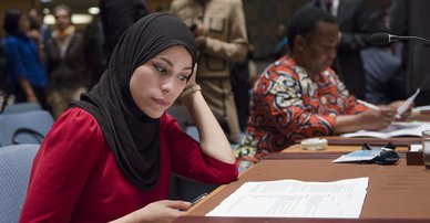Alaa Murabit, of NGO Voice of Libyan Women at UN Security Council Debate on Women, Peace and Security, 2015. Photo: UN Photo/Amanda Voisard CC BY-NC-ND 2.0.