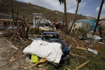 Damage caused by Hurricane Irma in Road Town, on the British Virgin Island of Tortola, 12 September 2017. Photo: Russell Watkins/DFID (CC BY 2.0)