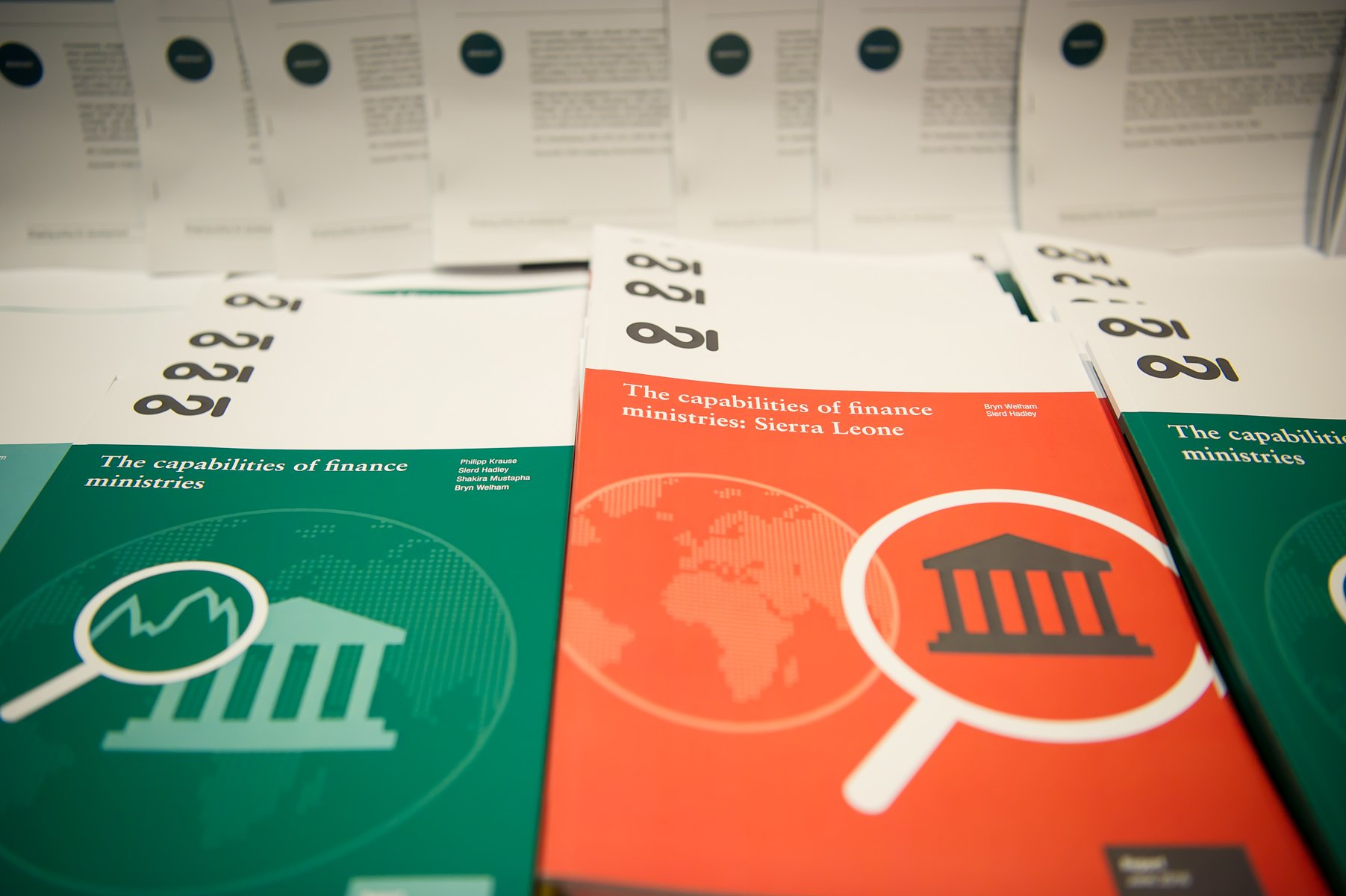 Capabilities of Finance Ministries event publications. Photo: Patrick Bora