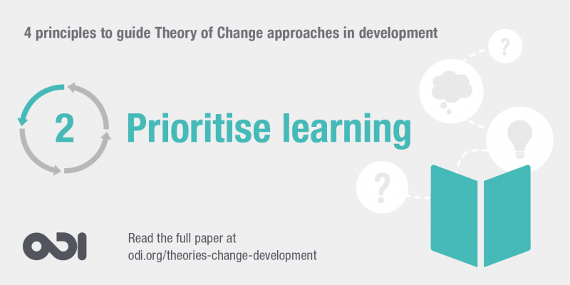 Principle 2: prioritise learning