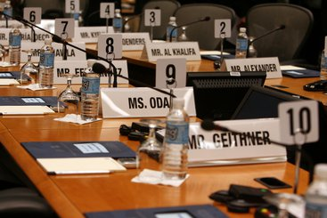 Name badges of attendees to Development Committee Meeting (WB/IMF)