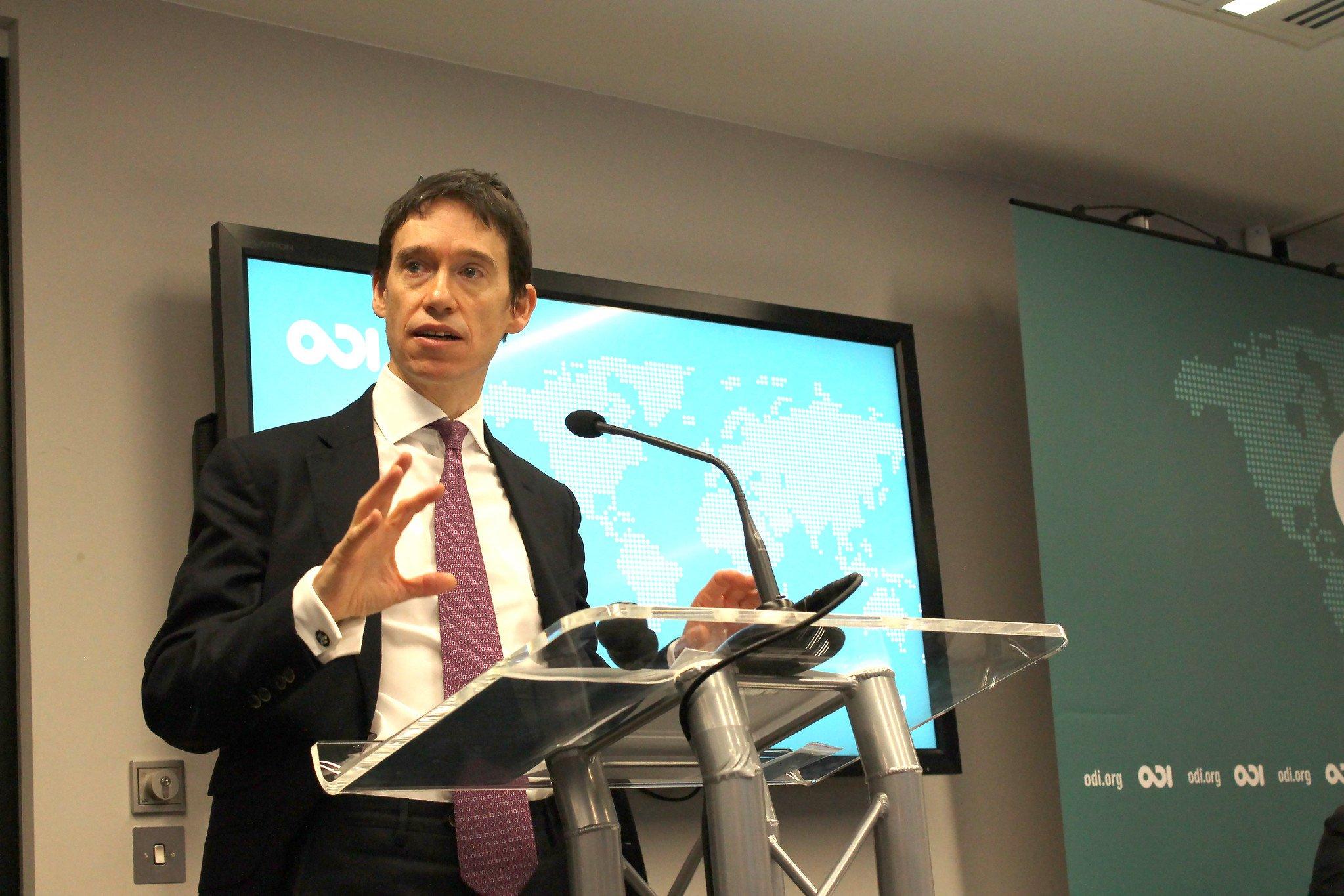 Rory Stewart delivers a keynote speech at ODI