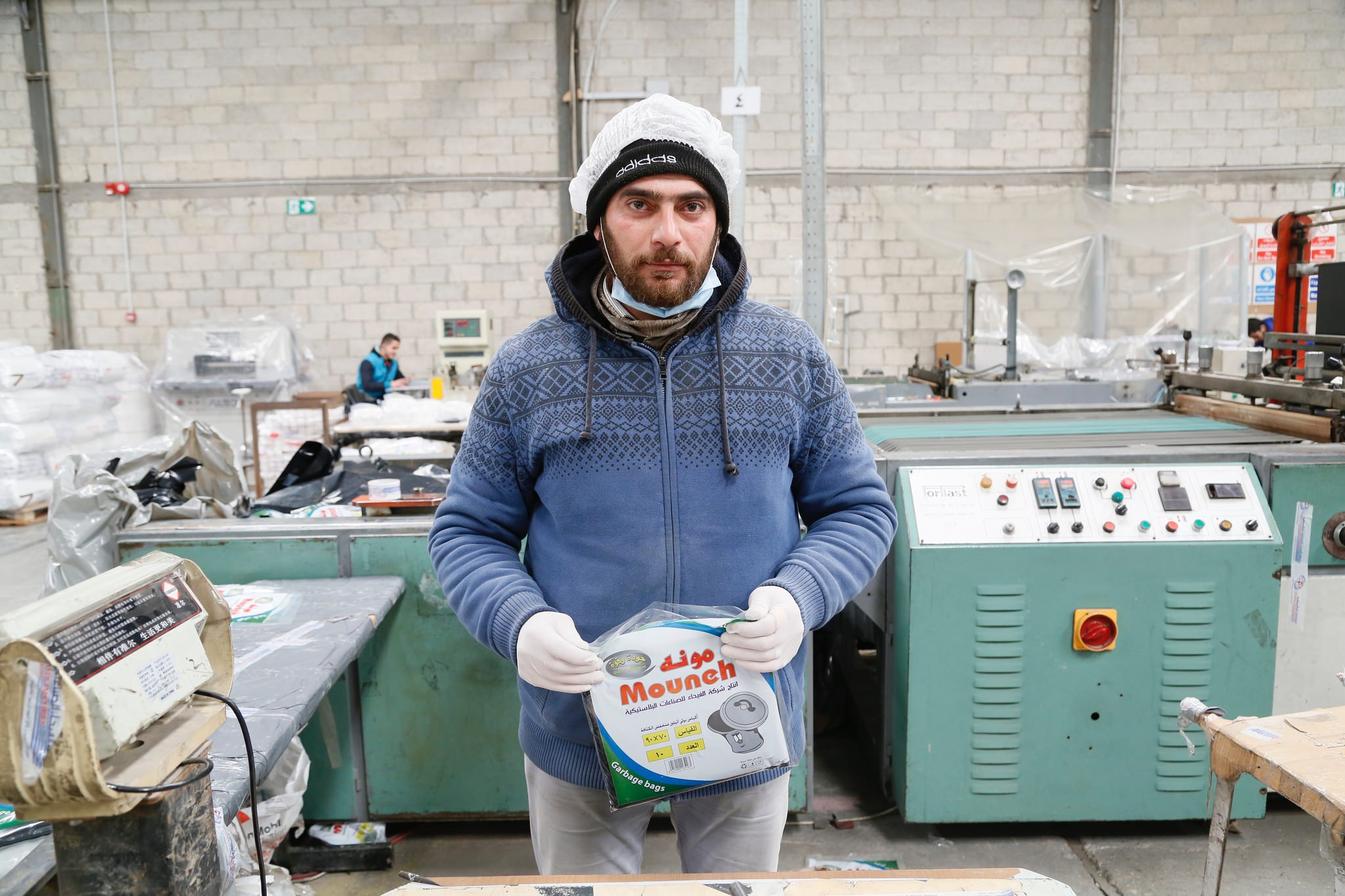Amer, from Aleppo, Syria, now working in a plastics packaging factory in Amman, Jordan © DFID, 2017