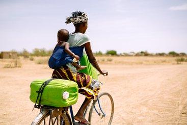 Collecting water, Burkina Faso, 2013