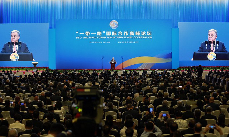 Secretary-General António Guterres addresses the Belt and Road Initiative Forum on International Cooperation, in Beijing. Photo: UN Photo/Zhao Yun, CC BY-NC-ND 2.0