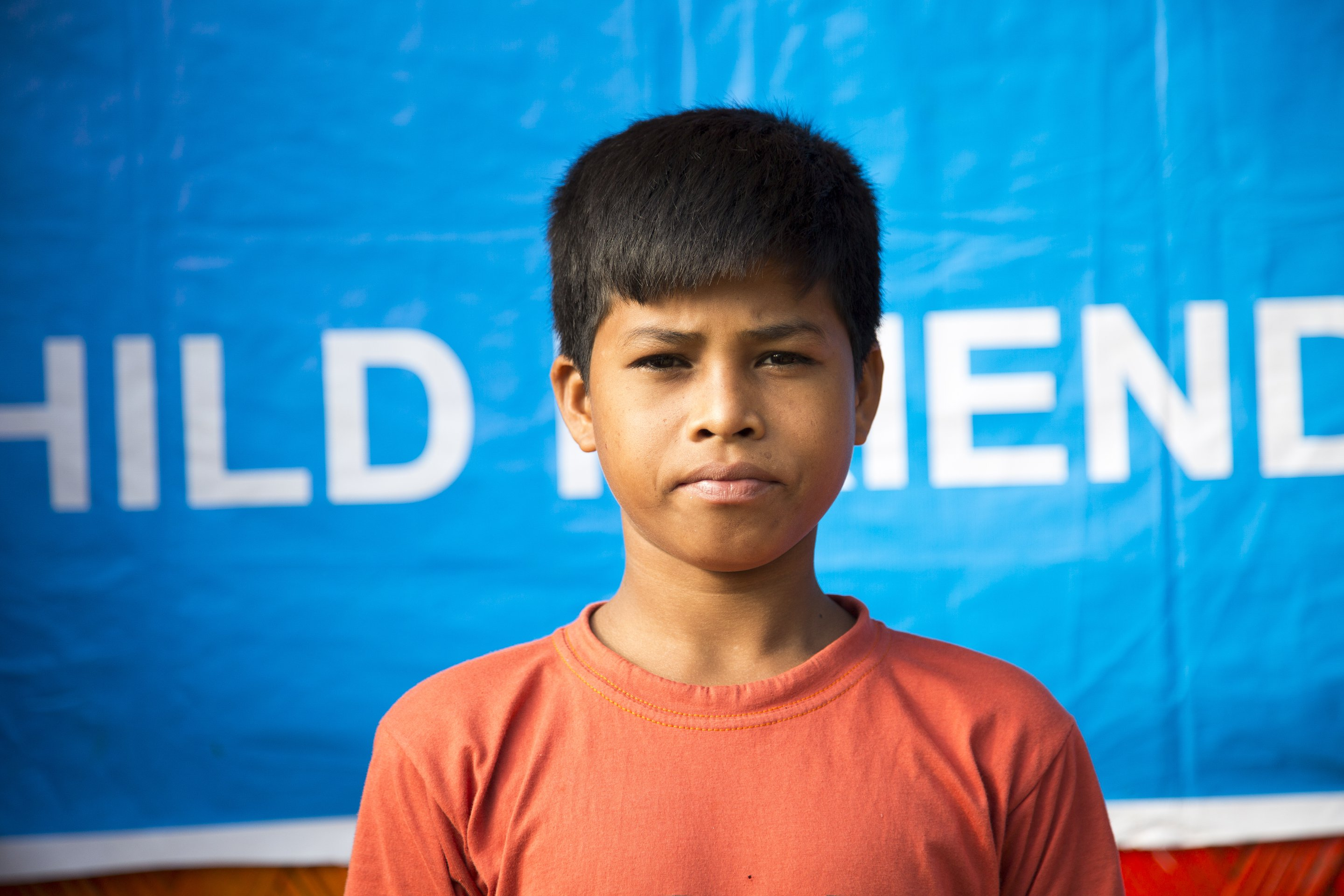 12-year-old boy from the Rohingya community in Bangladesh