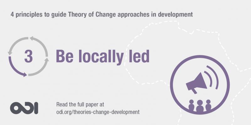 Principle 3: be locally led
