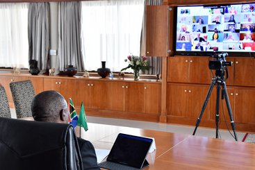 President Cyril Ramaphosa participates in a virtual United Nations High-Level meeting on Financing for Development in Era of COVID-19 and Beyond