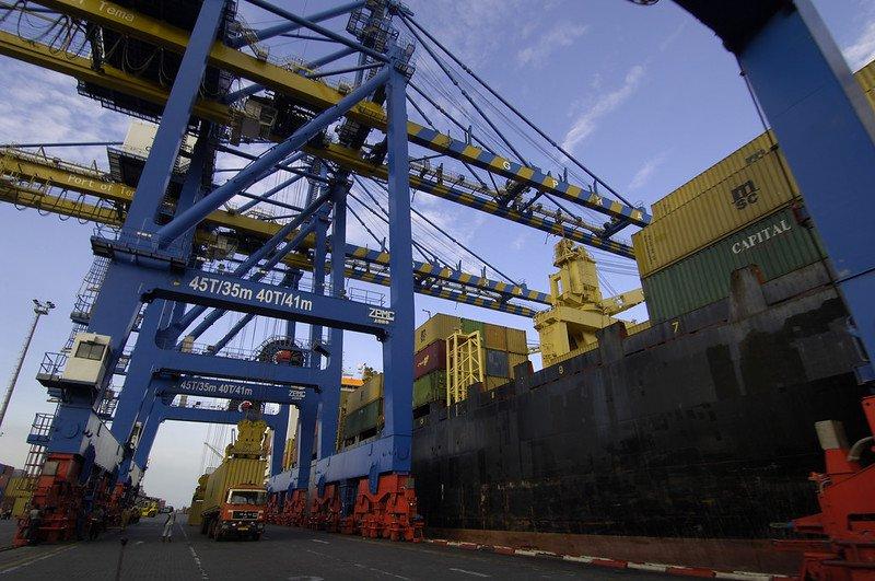 The port at Tema, Ghana