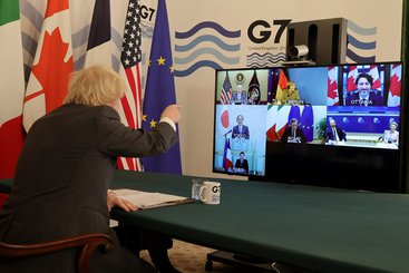 Boris Johnson hosts the meeting of the G7 leaders