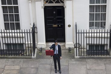 Rishi Sunak leaves Downing Street to deliver his annual budget in parliament. Photo: Number 10, CC BY-NC-ND 2.0