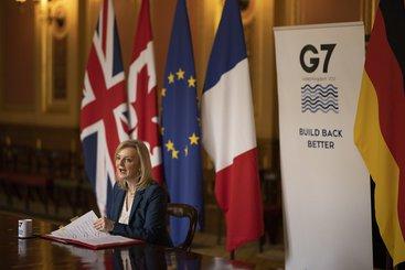 Secretary of State for International Trade Liz Truss G7 call