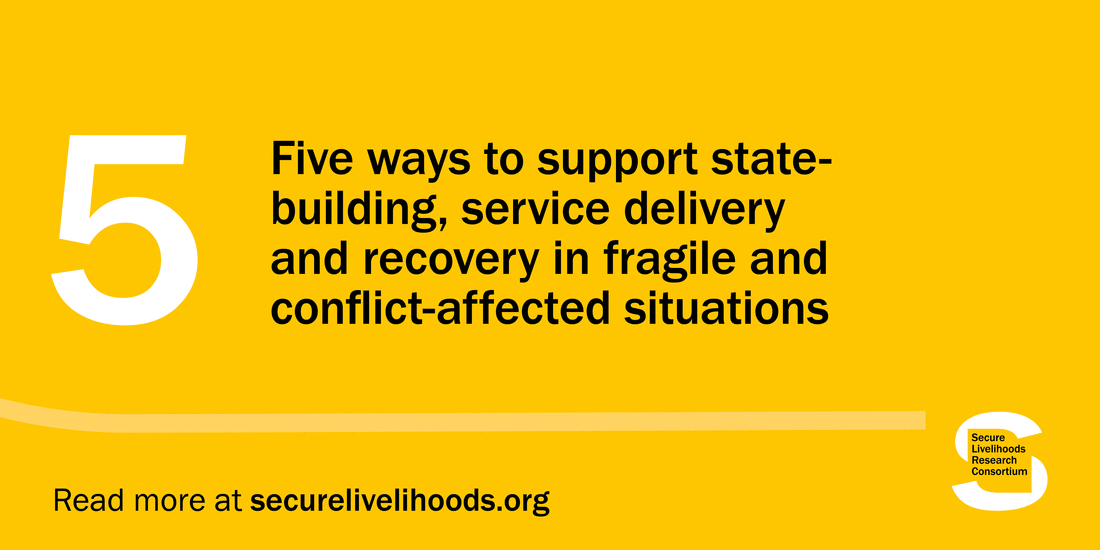 Five ways to support state-building, service delivery and recovery in fragile and conflict-affected situations