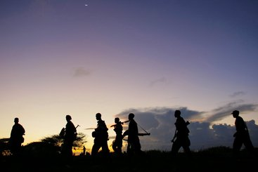 Troops advance during anti-Shabaab operation in Somalia. UN Photo/Stuart Price