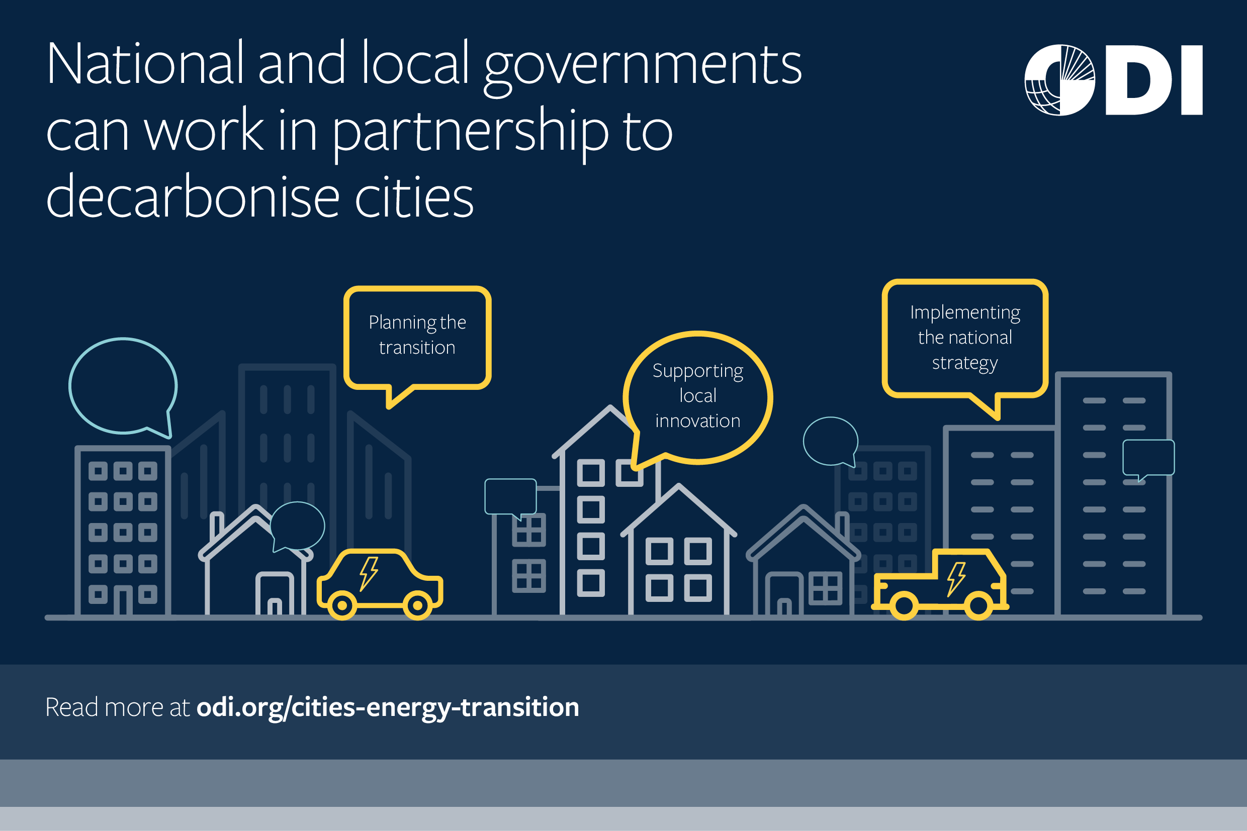 National and local governments can work in partnership to decarbonise cities.