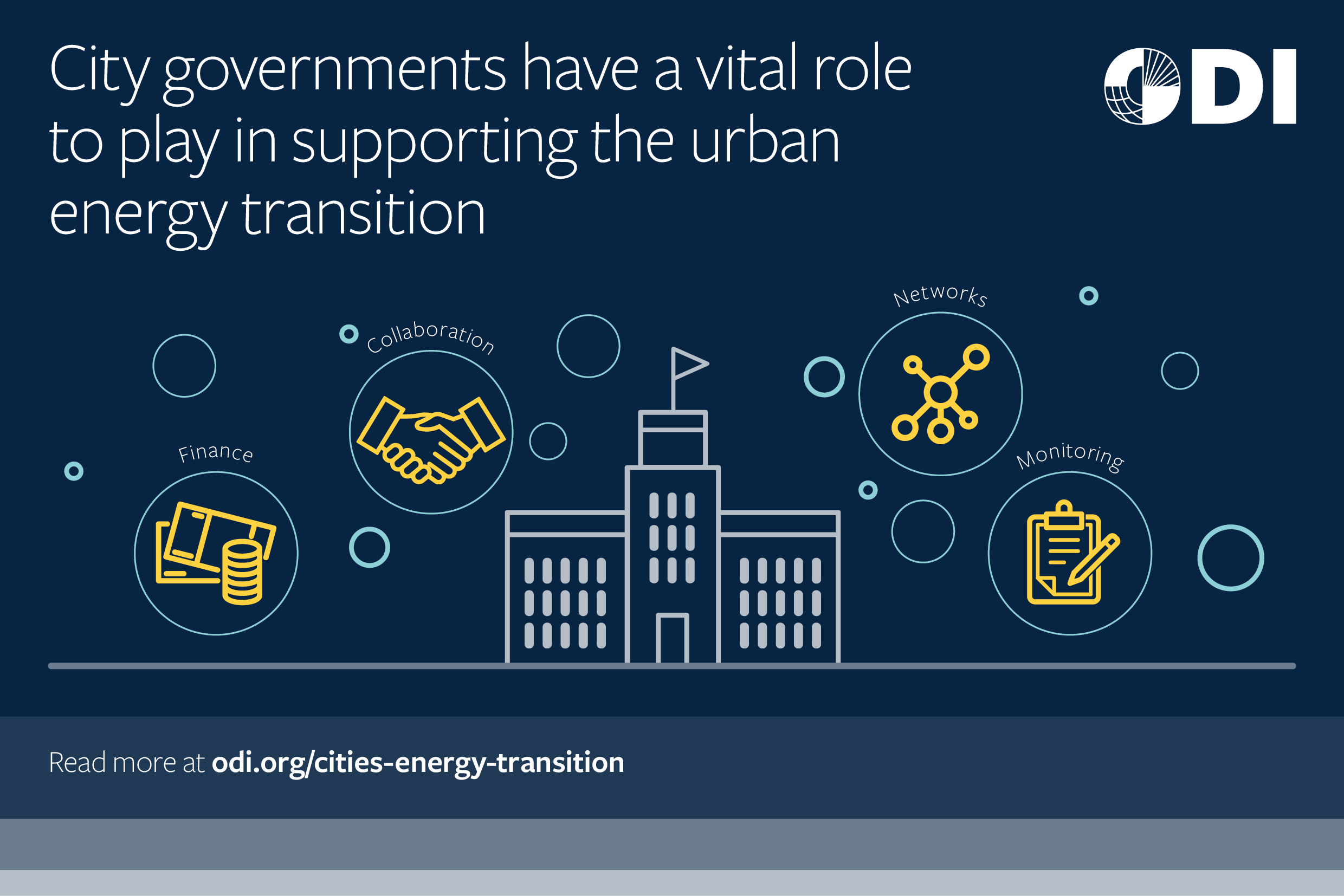 City governments have a vital role to play in supporting the urban energy transition.