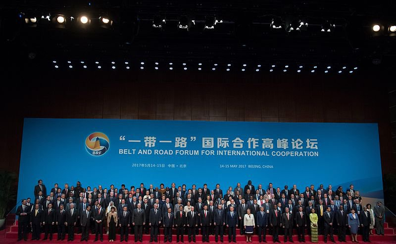 Opening of the Belt and Road Forum for International Cooperation in Beijing, China, 2017. Photo: Russian Presidential Press and Information Office CC BY 4.0