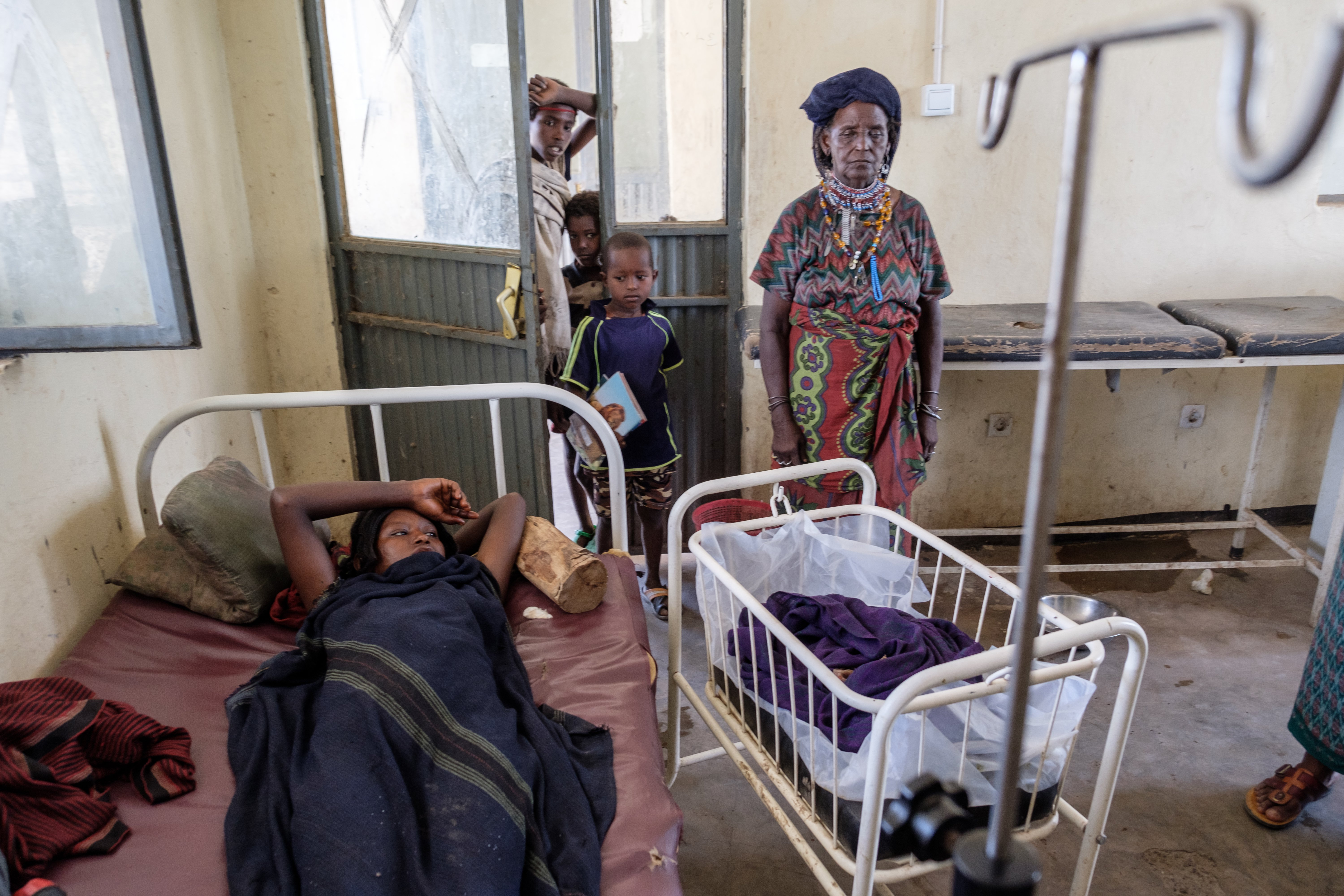 An 18-year-old girl in a hospital in Afar, Ethiopia
