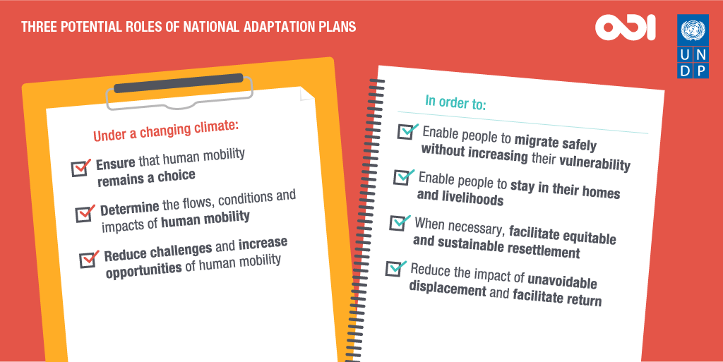 Three potential roles of national adaptation plans