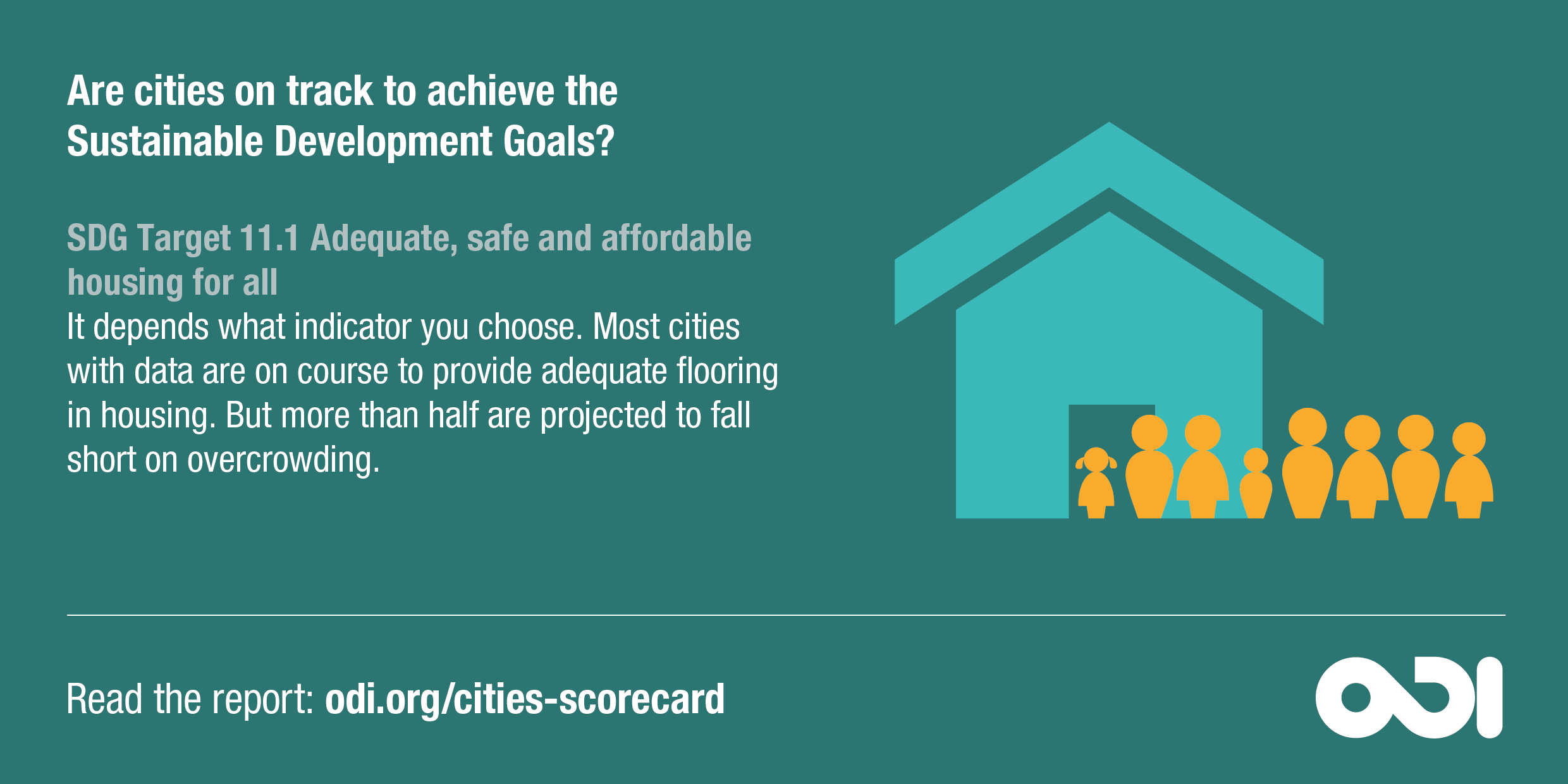 Infographic: cities' progress towards SDG targets on housing