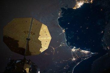 City lights on the Persian Gulf. Photo: NASA Johnson
