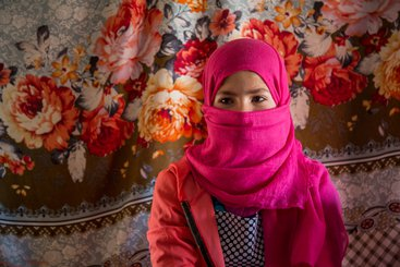 13-year-old girl living in an Informal Tented Settlement in Jordan