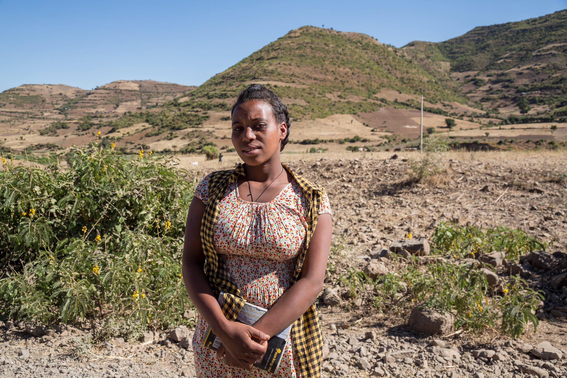 Adolescent girl in Amhara, Ethiopia