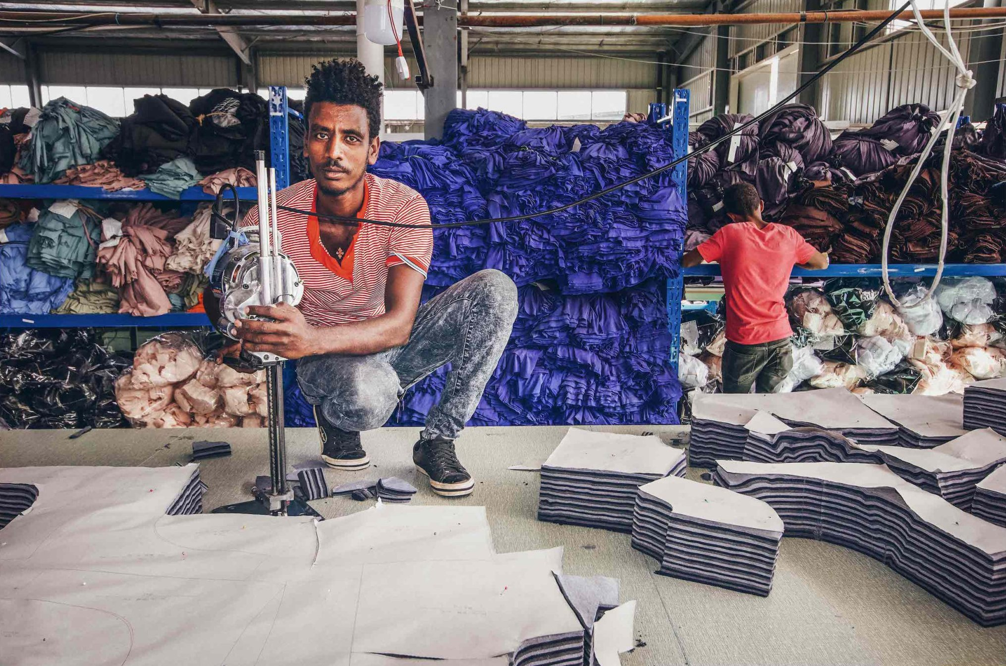 Textile factory worker, Ethiopia, 2019