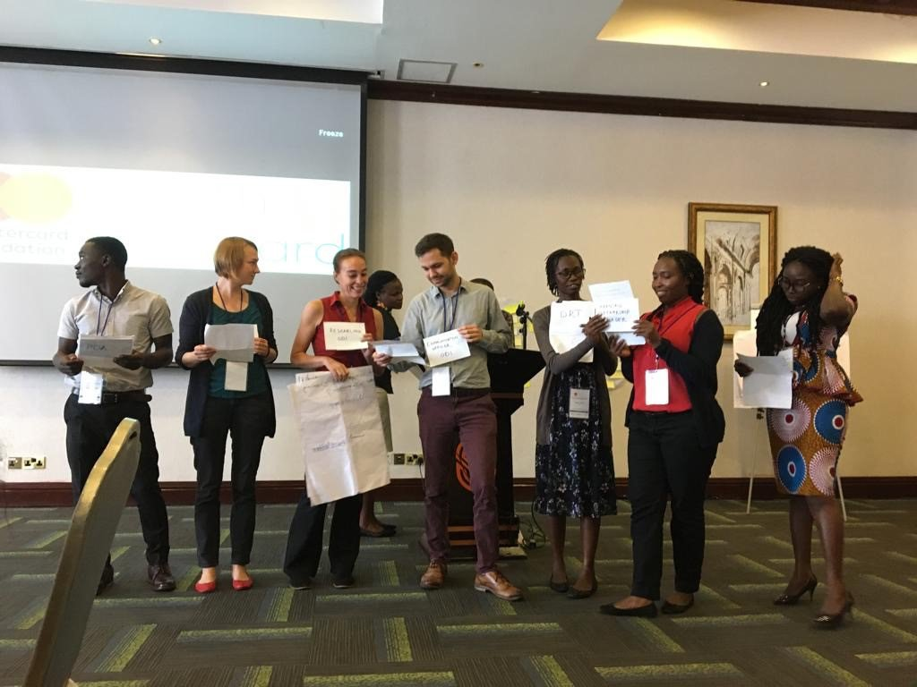Tiina Pasanen and her team perform a sketch at the 'Fail Fest' session of the last Youth Forward learning meeting. Image: ODI