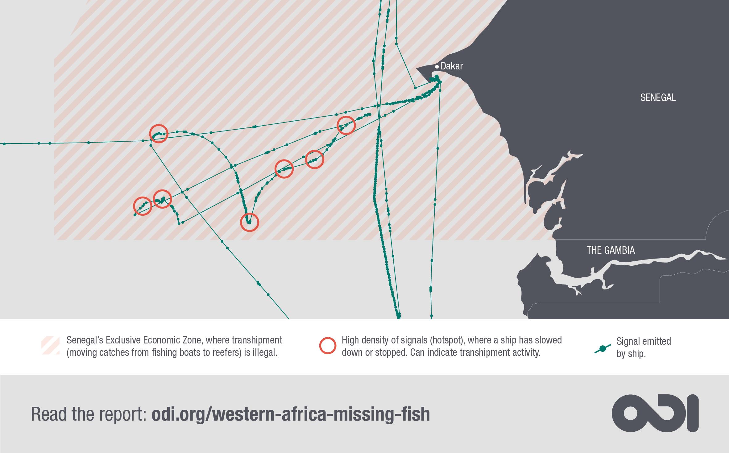 Illustration: interactive map tracking suspicious ship activity