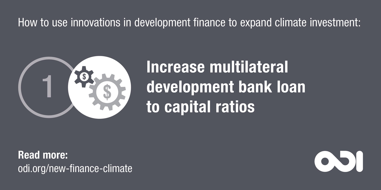 Development finance proposal 1: increase multilateral development bank loan to capital ratios