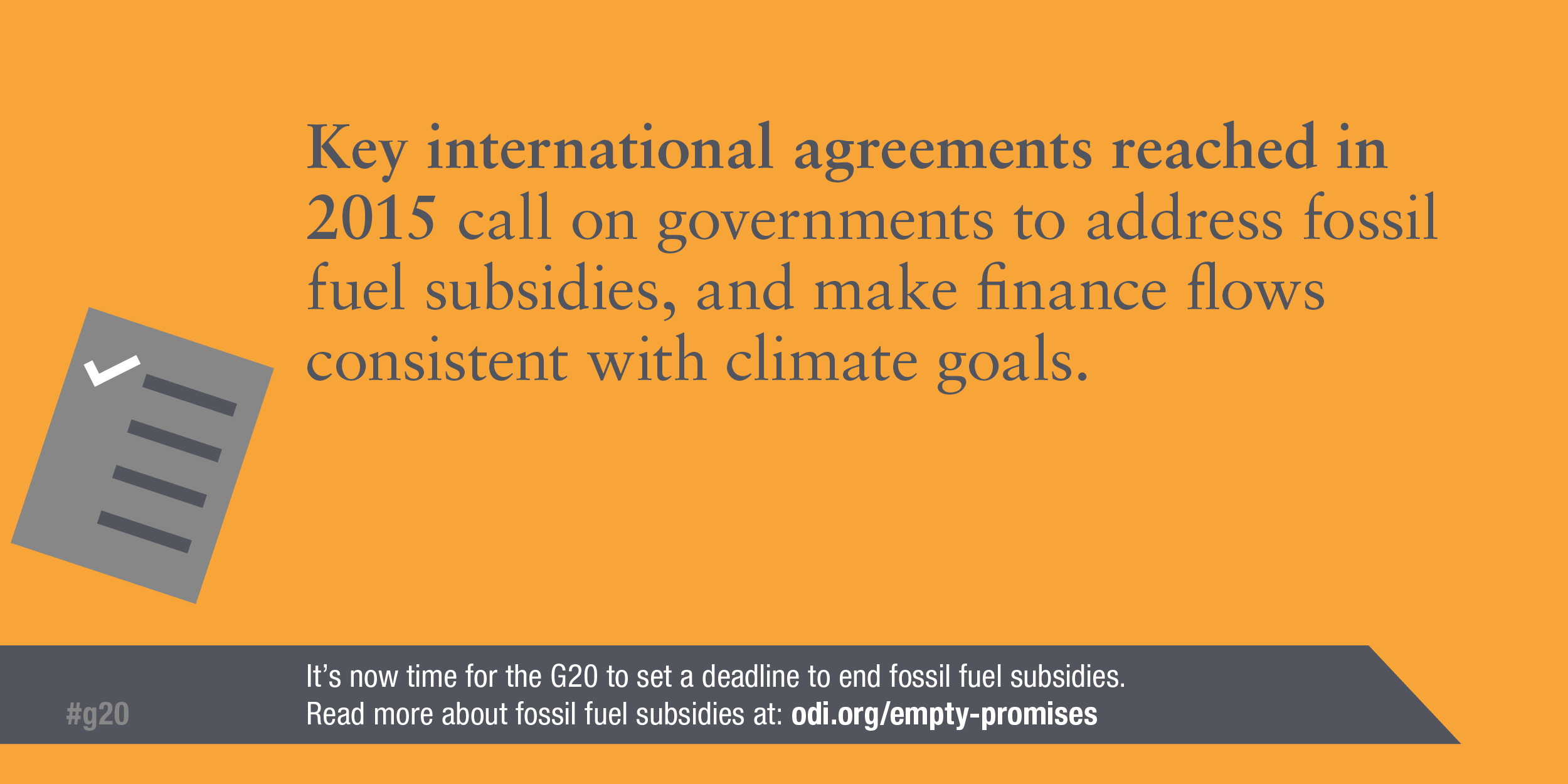 Infographic: International agreements in 2015 called on governments to address fossil fuel subsidies