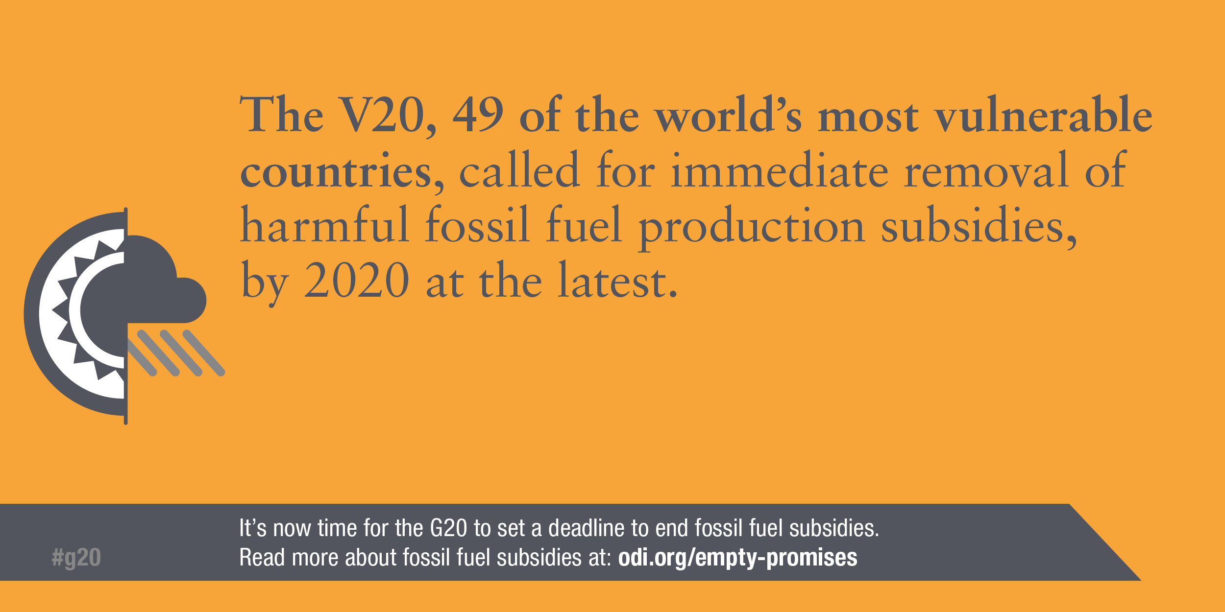 Infographic: The world's most vulnerable countries support the immediate removal of fossil fuel subsidies by 2020 at the latest