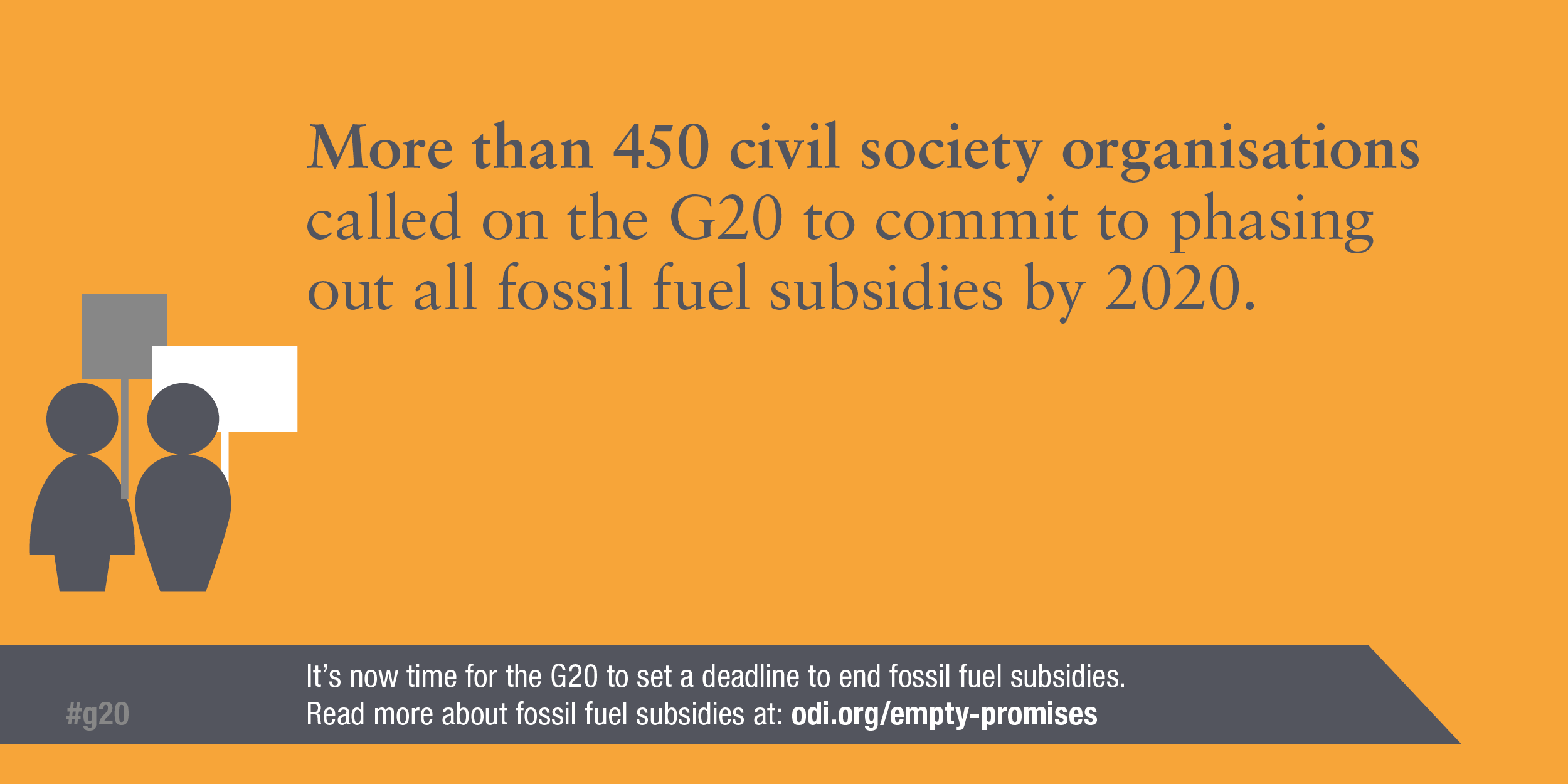 Infographic: More than 450 civil society organisations have called on the G20 to end fossil fuel subsidies by 2020