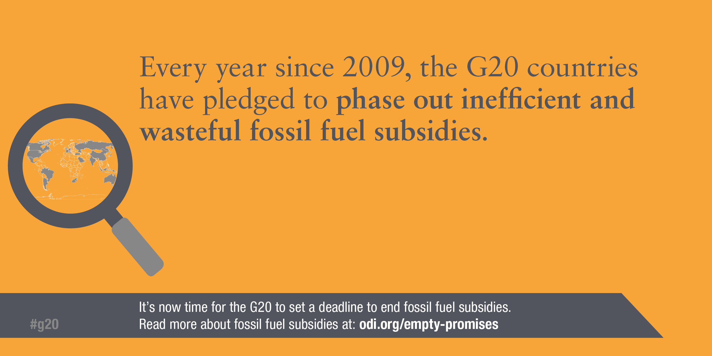 Infographic: Every year since 2009, the G20 has pledged to phase out fossil fuel subsidies