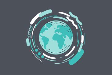 World graphic symbolising migration