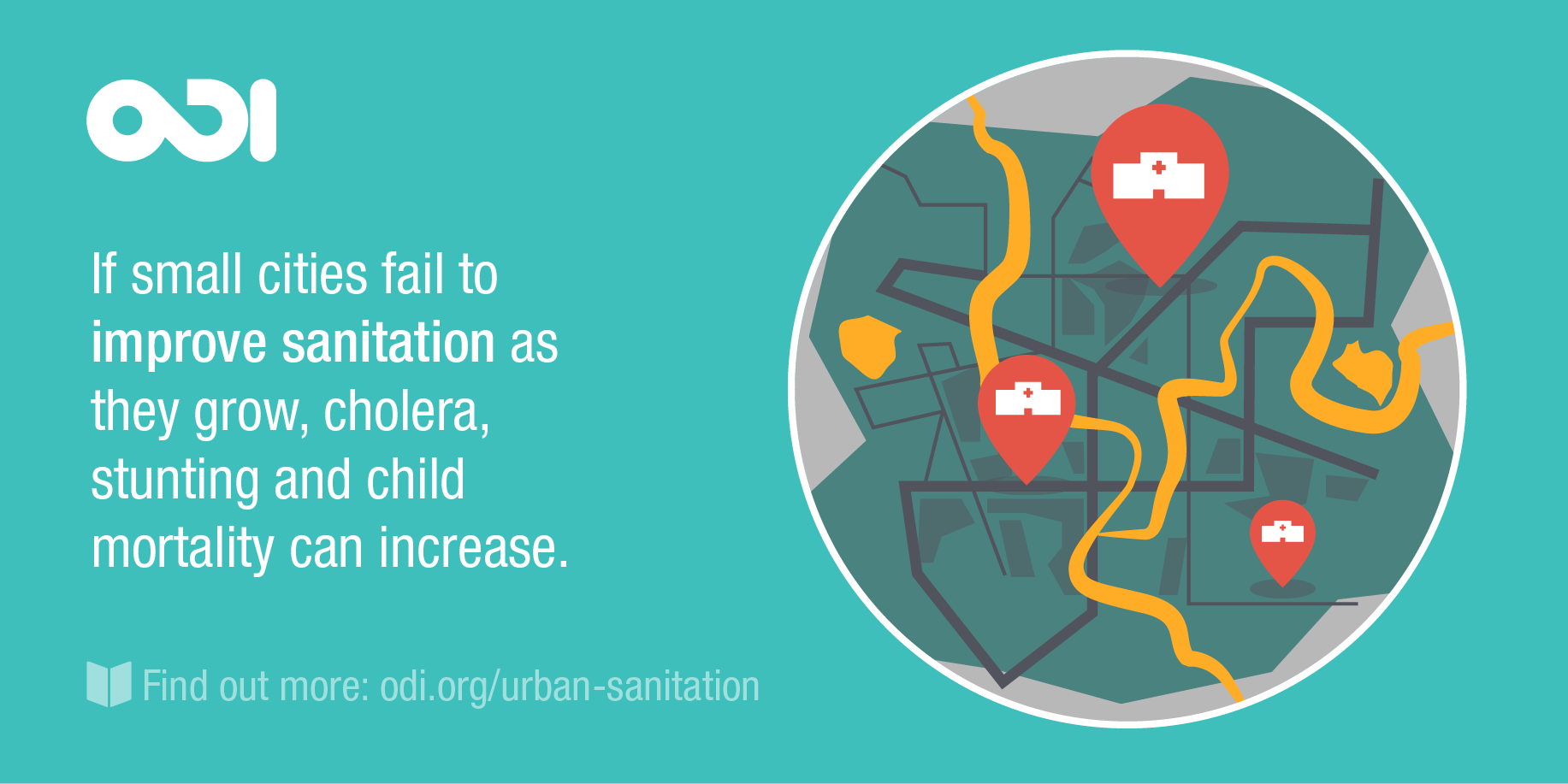 If small cities fail to improve sanitationa s they grow, cholera, stunting and child mortality can increase.