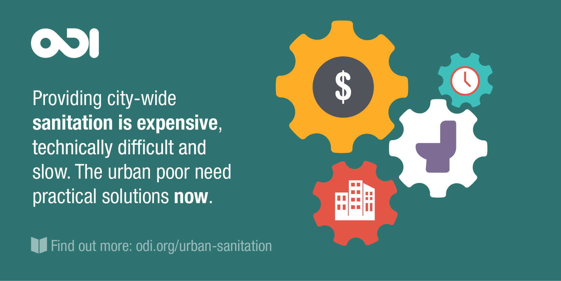 Providing city-wide sanitation is expensive, technically difficult and slow.