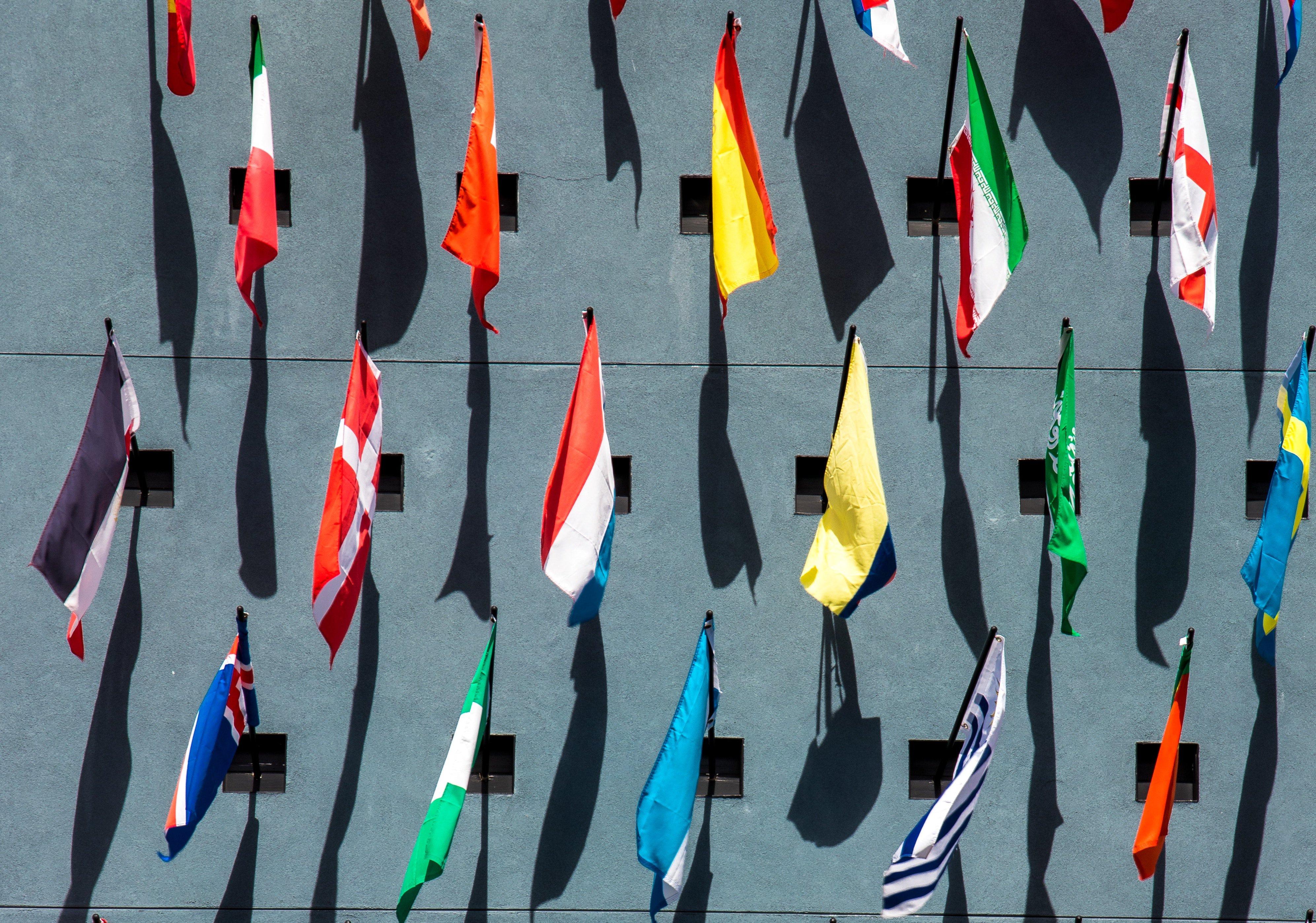 UN country flags. Credit: Jason Leung/Unsplash 2018