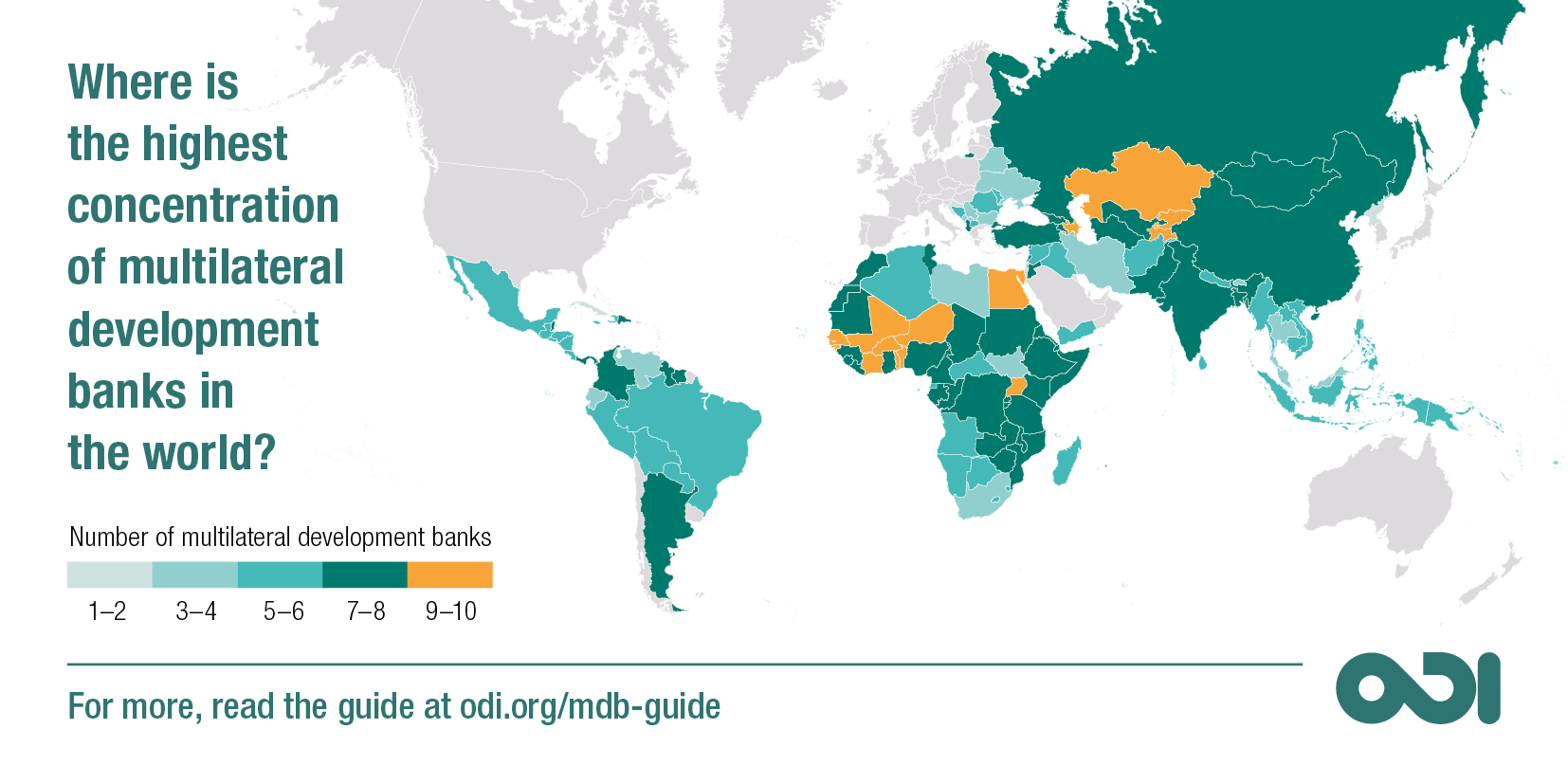 Where is the highest concentration of multilateral development banks in the world?