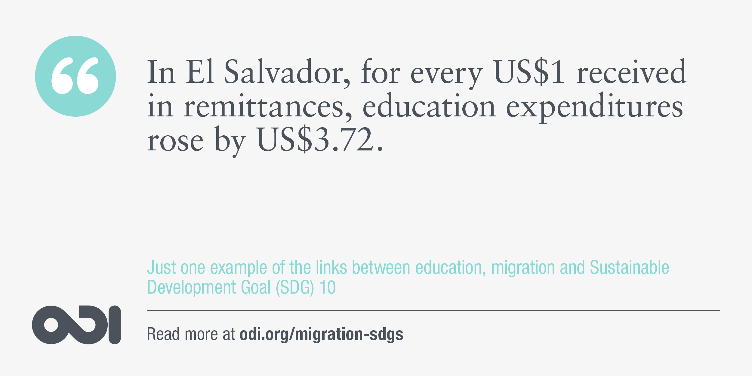 The links between education, migration and SDG 10.
