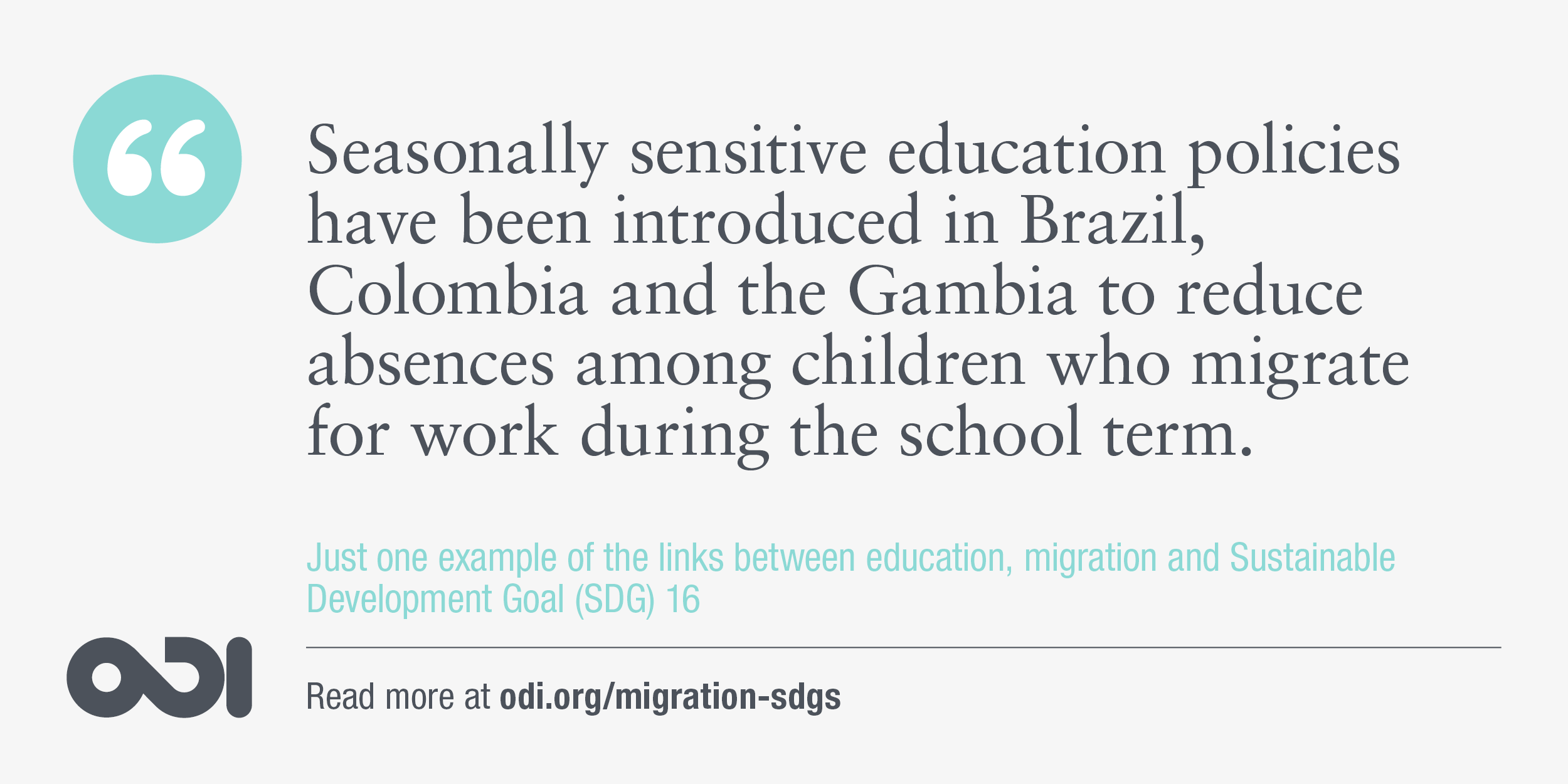 The links between education, migration and SDG