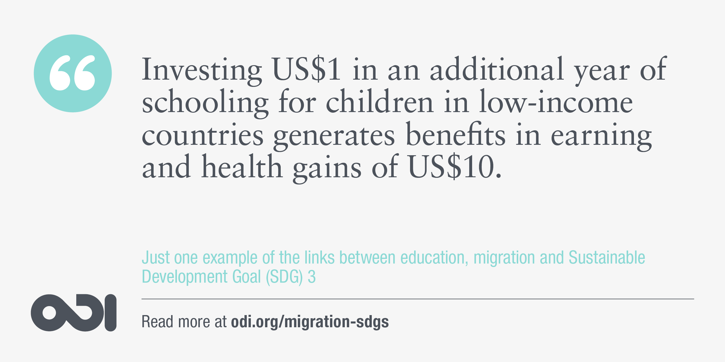 The links between education, migration and SDG 3.